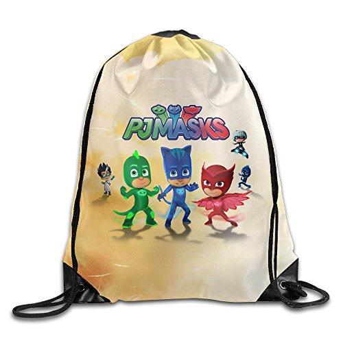 Sack Mask Costume (Popular Animation Pj Masks Drawstring Backpack Sack Bag)