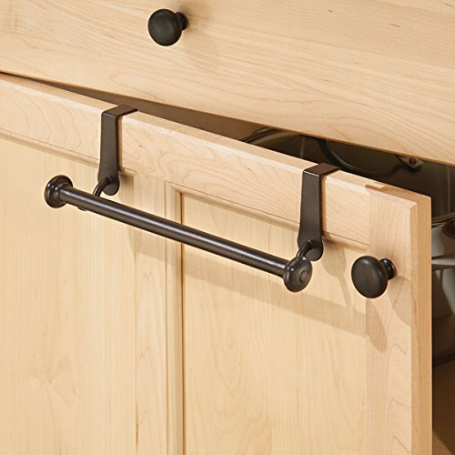 MDesign Over-the-Cabinet Kitchen Dish Towel Bar Holder