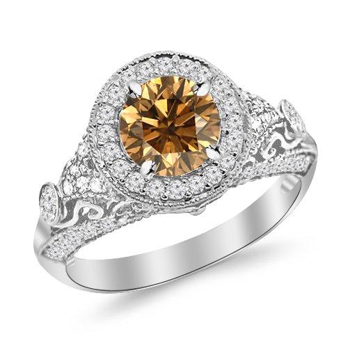 Diamond Vintage Style Ring - 8