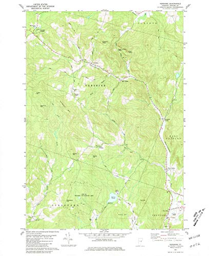YellowMaps Vershire VT topo map, 1:24000 Scale, 7.5 X 7.5 Minute, Historical, 1981, Updated 1981, 26.8 x 22 in - Paper