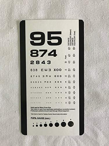 - Pocket Size Plastic Eye Chart, 6 3/8