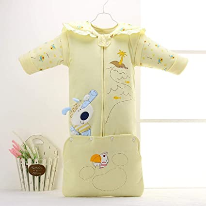 Gleecare Saco de Dormir para bebé,Engrosamiento de otoño/Invierno bebé Desmontable Kick de