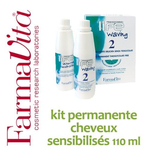 Kit permanente cheveux sensibilisés FarmaVita - 110 ml