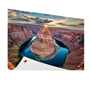 Horse Shoe Bend Grand Canyon–Foto en jardín Póster–60x 40cm (formatos disponibles: 60x 40, 120x 80, 200x 100) Top de calidad Jardín Banner.