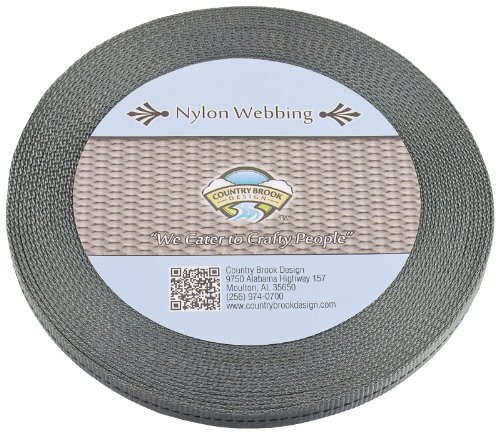 Country Brook Design - 1/2 Inch Foliage Green Military Spec Tubular Nylon Webbing, 50 Yards