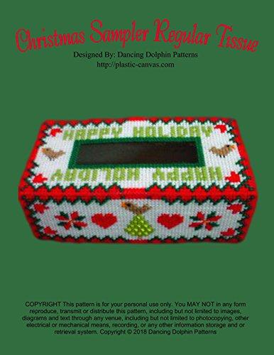 Christmas Sampler Regular Tissue Cover: Plastic Canvas -