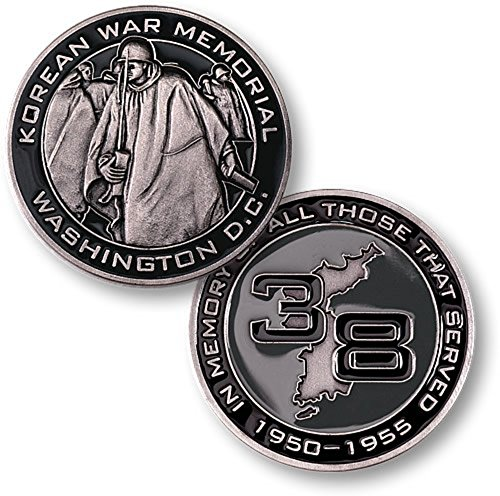 (Korean War Memorial Washington DC In Memory Of All Those That Served 1950-1955 Challenge Coin)
