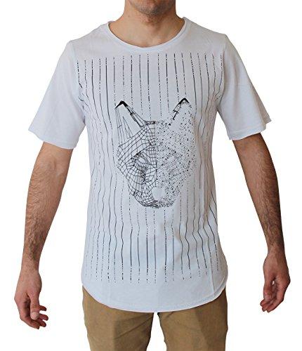 Blowhammer - T-shirt Uomo - Wolf SP White - Grunge Underground Streetswear