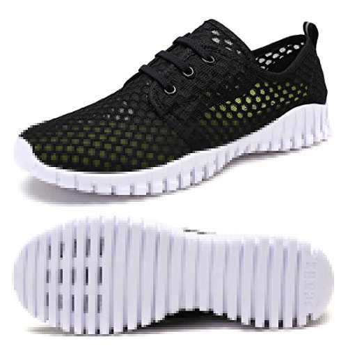 Womens Approach Tennis Shoes - FCKEE Quick Drying Mesh Water Aqua Shoes for Men and Women,MBD,Black-35