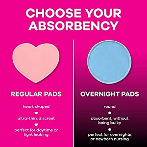 Bamboobies Washable Leak-Proof Nursing Pads for Breastfeeding, Ultra Absorbent, Pair of 4/8 Pads