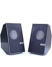 سماعات يو اس بى عالية الصوت مضغوطة حجم صفير وصوت مجسم للسفر والرحلات
