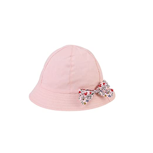 49c9baaa1fa7b hflzmy Skyflying Spring Summer Baby   Toddler Brim Sun Protection Hat Small  Floral Bowknot Hat Fisherman