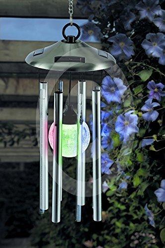 Windspiel Klangspiel Solarleuchte LED Farbwechsel Garten Deko