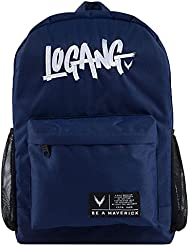 Official Maverick By Logan Paul Logang Backpack Navy Blue