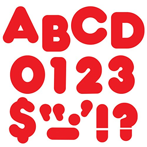 Red 4-Inch Casual Uppercase Ready Letters® -
