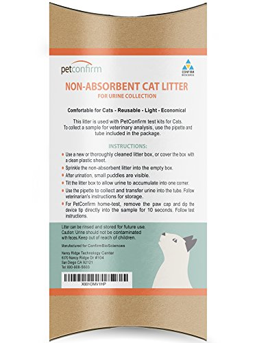 PetConfirm Nonabsorbent Cat Litter for Cat Urine Collection ()