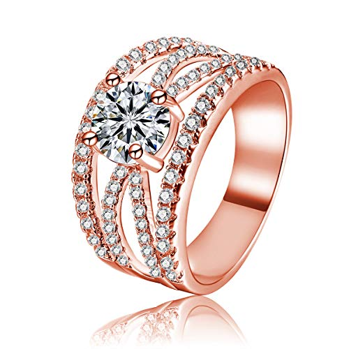 Rose Gold Plated 1ct Cubic Zirconia Cz Simulated Diamond, used for sale  Delivered anywhere in Canada