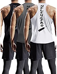 a97f589176c7c Men s Dry Fit Y-Back Muscle Workout Tank Top