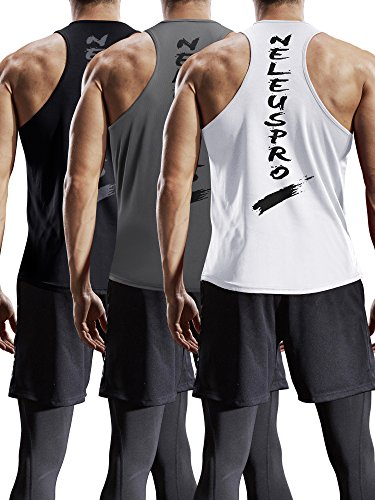 00095f4277 Search results. wm gym. Neleus Men's 3 Pack Mesh Workout Muscle Tank Top ...