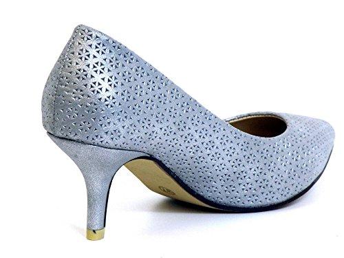 Mujeres Zapatos de tacón plata, (silber) 62055 PLATA