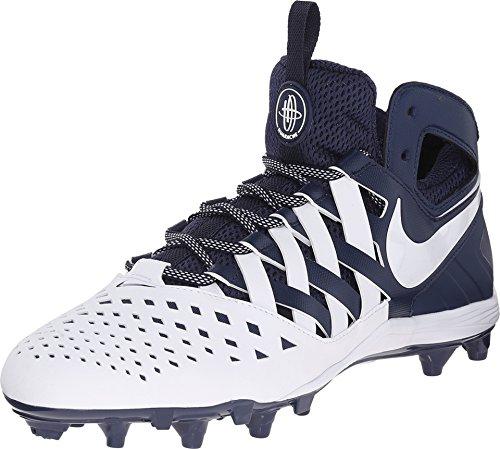Nike Men's Huarache V Lacrosse Cleats (12 M US, Midnight Navy/White) (Nike Cleats Huarache Lacrosse)