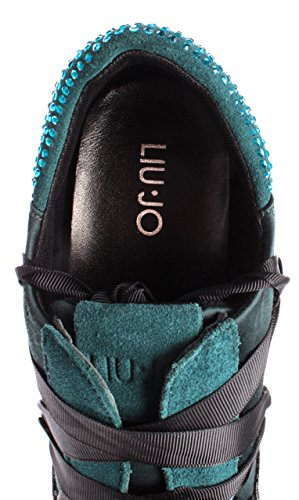 Satin New Teal Strass Karlie Green Donna 03 Black Jo Verde Liu Sneakers Scarpe 8Y0q71w