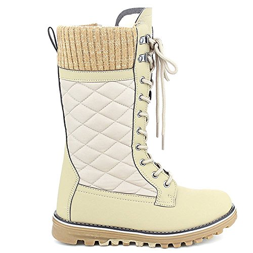 Polar Snow Boots Lined 01 Fur Women's Warm Winter Taupe10 WestCoast Tall HxF8qRwHd