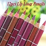 Lip Liner Lime Crime Brown Lip Liner 12Pcs/set Brand New Women's Professional Lipliner Waterproof Lip Liner Pencil 15CM 12 Colors Liquid Matte