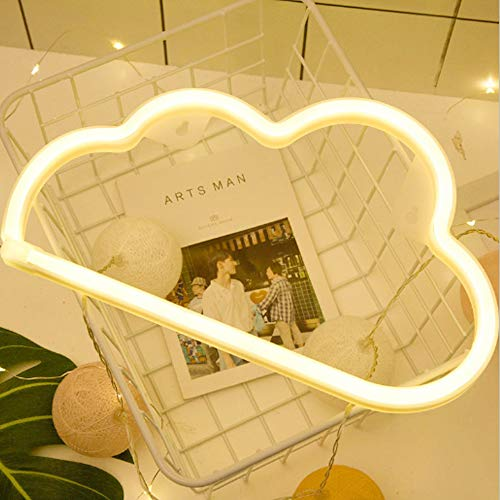 Cloud Neon Light Signs Wall Decor Battery and USB Operated Bedside Lamps Home Decoration for Living Room,Children