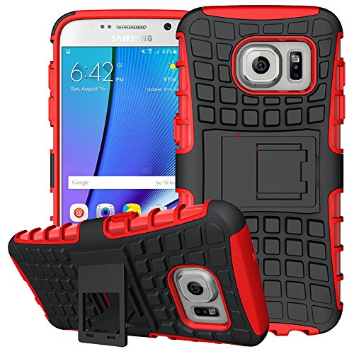 Galaxy S7 Case,K-Xiang (Armor Series)TPU Heavy Duty Dual Layer Shockproof Silicone Phone Protective Case Hybrid kickstand Cover for Samsung Galaxy S7 2016 (Red)