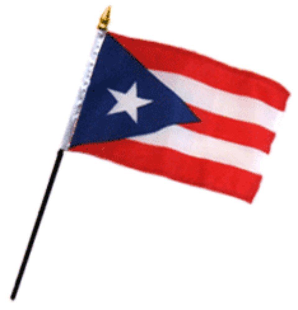 Wholesale Lot of 6 Puerto Rico 4x6 Desk Flag