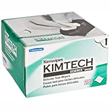 """Kimberly-Clark Kimtech Science Kimwipes Delicate Task Disposable Wiper, 8-25/64"""" Length x 4-25/64"""" Width, White"""
