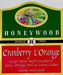 NV Honeywood Winery Cranberry L\'Orange Fruit Wine 750 mL