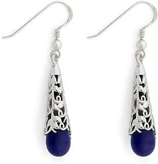 product image for Cobalt Vine Capped Teardrop Earrings