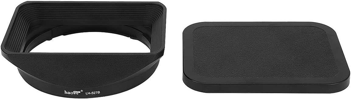 Haoge LH-S27B Bayonet Square Metal Lens Hood Shade with Cap for Sony Vario-Tessar T FE 24-70mm F4 ZA OSS SEL2470Z Lens