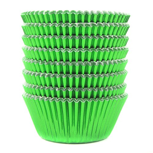 Eoonfirst Green Foil Metallic Cupcake Case Liners Baking Muffin Paper Cases 198 Pcs