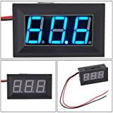 Hittime 2 Wire Blue LED Panel LED Display Voltage Meter Voltmeter