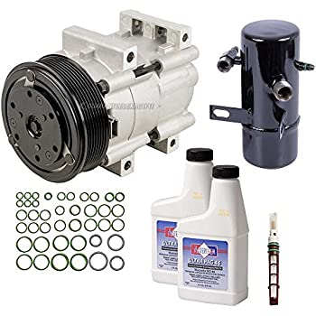 AC Compressor w/A/C Repair Kit For Ford F Super Duty F-350 F-250 1994-1997 - BuyAutoParts 60-81183RK NEW