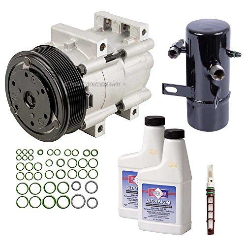 (AC Compressor w/A/C Repair Kit For Ford F Super Duty F-350 F-250 1994-1997 - BuyAutoParts 60-81183RK NEW)