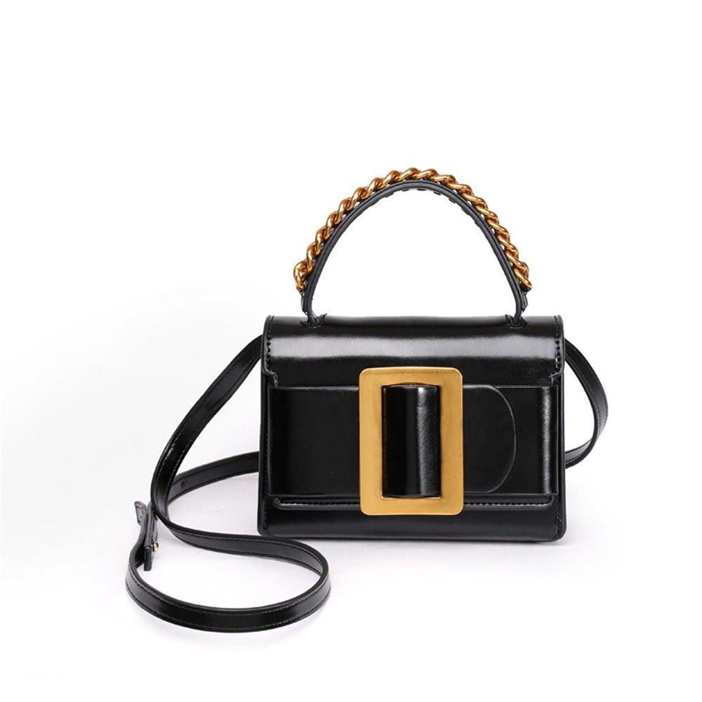 Summer Single Shoulder Bag Vogue Satchel,Black,17.5X12.5X7Cm