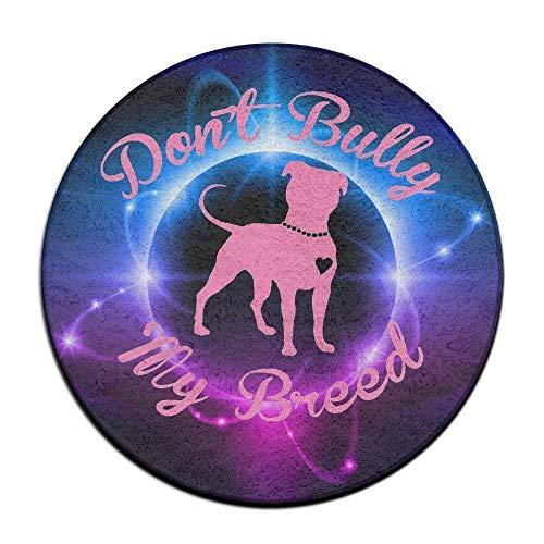 Liliynice - Alfombra de baño Antideslizante, diseño de Pitbull con Texto en inglés Don't Bully My Breed, para Interiores y...