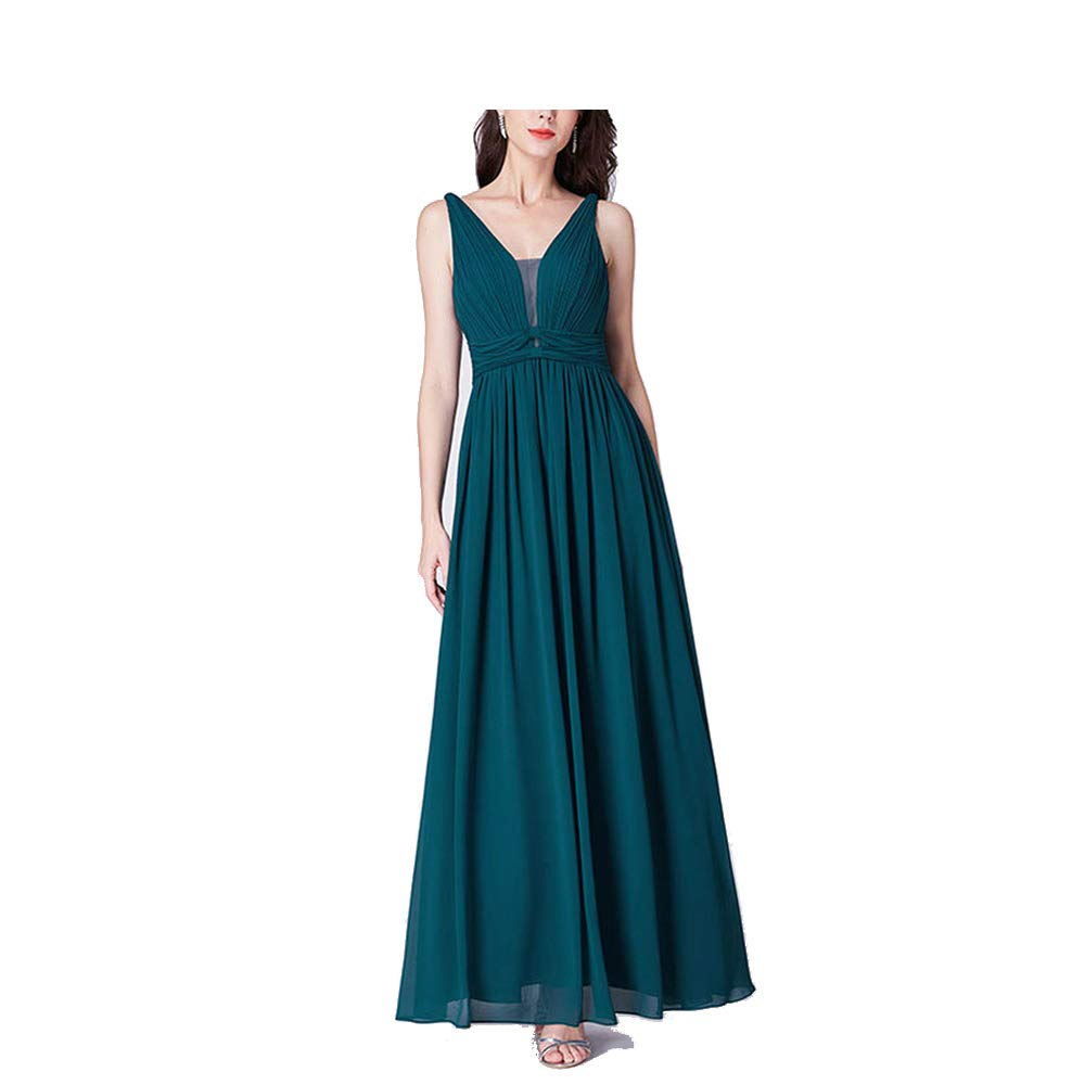 EP07499TE CAFSKYE New Bridesmaids Dresses A Line V Neck Long Tulle Pleated Wedding Party Gowns Robe