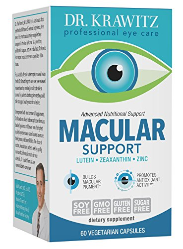 Dr. Krawitz AREDS 2 Macular Support Eye Vitamins - 60 veg caps by Dr. Krawitz Professional Eye Care Supplements