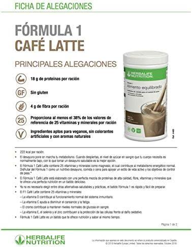 Herbalife Formula 1 Batido nutricional - sabor cappuccino - 550 g: Amazon.es: Salud y cuidado personal