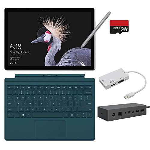 2017 New Surface Pro Bundle ( 6 Items ): Core m3 4GB RAM 128GB Tablet, Surface Dock, New Surface Pen Platinum, Surface Pro 4 Cover Teal,128GB Micro SD Card,Mini DisplayPort Adapter by NewSurfacePro (Image #8)