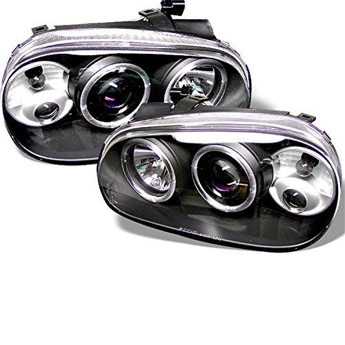 Spyder Auto Volkswagen Golf IV Black Halogen Projector Headlight