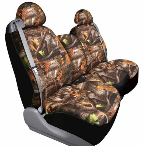 Saddleman Front Bench Custom Made Seat Cover - Polyester Fabric (Camouflage)