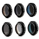 HOBBYTIGER DJI Mavic Pro Lens Filter ND ND/PL Set 6-Pack (Pass Gimbal Calibration)