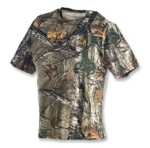 Browning 3011252405 Wasatch Short Sleeve T-Shirt, Realtree 2X-Large