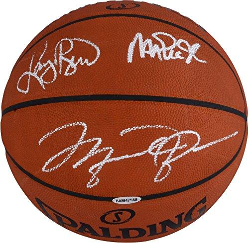 Magic Johnson, Larry Bird, Michael Jordan Autographed Official NBA Basketball - Upper Deck - Fanatics Authentic -